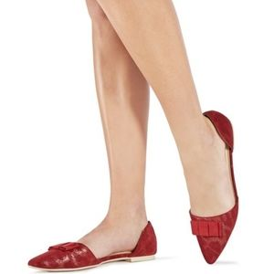 Just fab D'orsay red flats